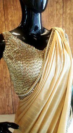 Golden saree