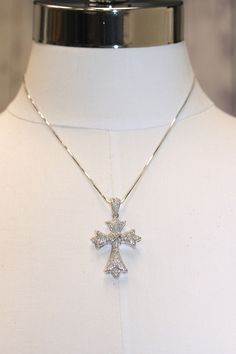 Rhinestone X-Middle Cross