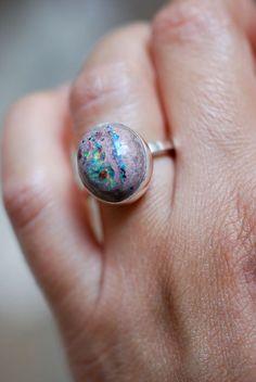 fire opal #ring
