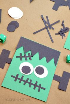 halloween game for kids roll a frankenstein change the number needed and add more dice - Halloween Games For Kid