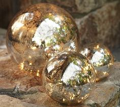 These are gorgeous and I thought we could use them in the fireplaces and/or outside in the garden. They have lights inside!