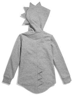 Kukukid Grey Dino Hoodie available for international delivery from online kids store www.alittlebitofcheek.com.au