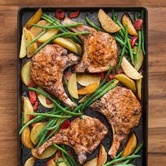 Roast Pork Chops with Green Beans and Potatoes | Rachael Ray Every Day