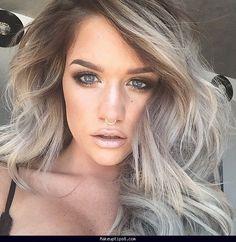 ash-grey-hair-on-pinterest-grey-brown-hair-grey-highlights-hair ...