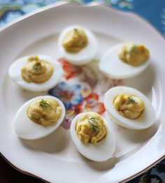 Smoked Trout Deviled Eggs ... mayhaps a recipe for a weekend fishing campout?