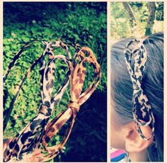 Leopard bow head band
