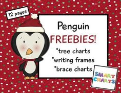 These penguin pal pages {FREEBIE}  You'll find some really cool tree charts and brace charts along with writing frames.