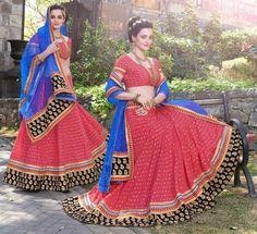 Gajjaria Pink Color Net Designer Lehenga For Weddings and Functions : Tanika Collection YF-26089