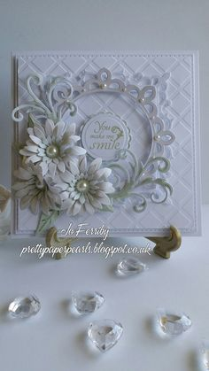 Well hello and welcome to my blog. I have had a love of craft for many years and recently became hooked on card making which has now become a serious passion. This is the place where I will share my love of pretty paper, pearls and any other lovely embellishments I can get my hands on! This blogging business is all new to me and I'm learning as I go, so please allow for any mistakes or mishaps which will surely happen on my new blogging adventure x