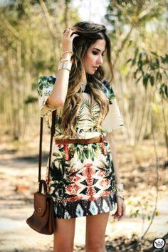 FashionCoolture - 08.08.2013 look du jour Vateno print dress (2)