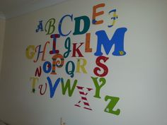 large alphabet wall mural. £45-£60 depending on size