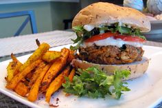 Indian Tandoori Veggie Burger