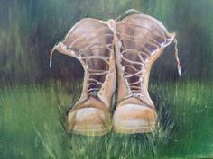 Items similar to Combat boots Iraq military wall decor art painting on Etsy Wall Art Decor, Combat Boots, My Etsy Shop, Military, Painting, Check, Combat Boot, Paintings, Draw