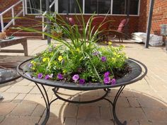 Longing to transform your pit for the summer or just upgrade to a different pit? Don't toss it: recontextualize it into a lovely planter.