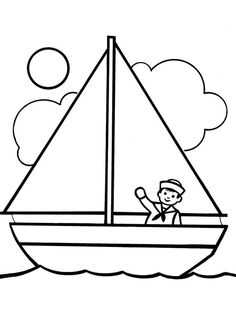 Boat Coloring Page Located In YACHT Category Free Printable For Kids