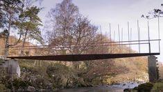 fishermans bridge (2008) Landscape Structure, Landscape Architecture, Forest Cabin, Bridge Design, Pedestrian Bridge, High Line, The Real World, Lake District, Natural Wonders