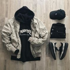 """1,935 Likes, 36 Comments - @quartrlife on Instagram: """"(merry gridmas, everyone) @outfitgrid. ▪️@HM Bomber. ▪️@HM Purpose Tour Hoodie. ▪️@Villainsco Roots…"""""""