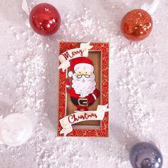 Mr Santa Claus from Tonic studios Buildables Tonic Christmas Cards, Christmas Card Crafts, Christmas Banners, Xmas Cards, Christmas Themes, Holiday Crafts, Tonic Cards, Studio Cards, Christmas Calendar