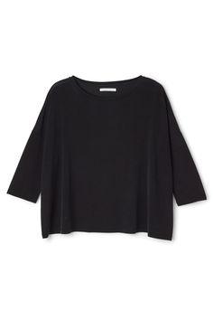 Weekday image 11 of Fleur Cupro T-Shirt in Black