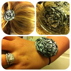 #Diy #fabric #flower