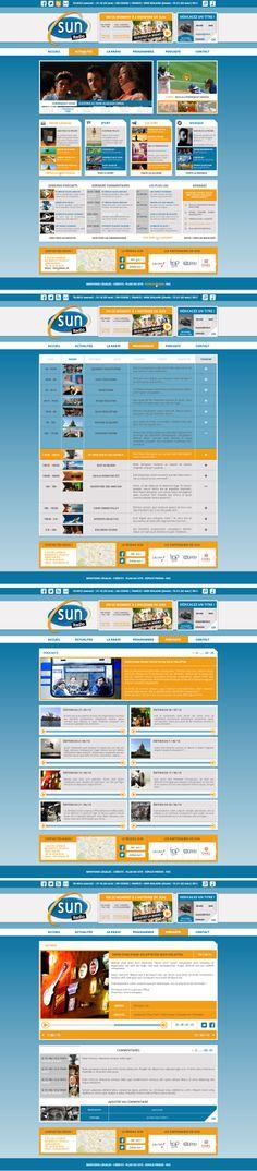 """""""Sun radio"""" (website design) by Noctulescence ©2013"""