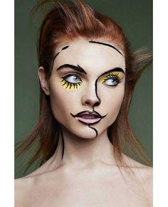 For Sony France Model : Georgie @ Metropolitan Make up : MademoiselleMu Hair : Pierre Saint Sever Retouch : Omen Studio Assistant : Lara Guffroy Pop Art Makeup, Crazy Makeup, Beauty Makeup, Lip Art, Creative Makeup Looks, Theatre Makeup, Too Faced, Foto Art, Fantasy Makeup