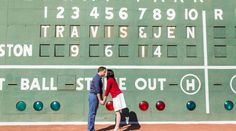 Baseball Engagement- Fenway Park- engagement shoot- Boston- Jen & Travis's gorgeous Boston engagement shoot at Fenway Park couldn't have come to us at a more perfect time, considering the ...