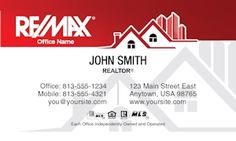 Remax business cards realtor business cards real estate agent home remax realtor business card template design flashek Images