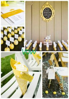 VOW: #9 Lemon Zest, Bright Yellow Wedding
