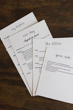 Bridesmaid Proposal Boxes : Card inserts, DIY, bridal party, information cards, wedding, from bride