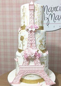 Parisian Play | Satin Ice Paris Birthday Cakes, Paris Themed Cakes, Paris Themed Birthday Party, Paris Cakes, Quinceanera Cakes, Quinceanera Decorations, Paris Quinceanera Theme, Bolo Paris, Eiffel Tower Cake