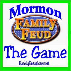 Have a fun ward activity or youth night by playing the Mormon Family Feud. Here are the answers to the Mormon Family Feud Questionnaire so you can put together your own game for a spirited and fun Mormon activity night. Mutual Activities, Young Women Activities, Church Activities, Summer Activities, Family Activities, Indoor Activities, Enrichment Activities, Recreational Activities, Activity Day Girls