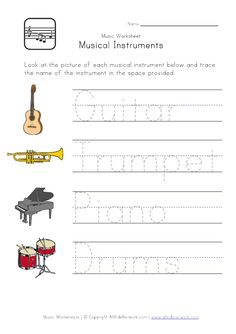 Musical Worksheets for Kids. 20 Musical Worksheets for Kids. Musical Instruments Number Count Worksheet for Kindergarten Preschool Music, Music Activities, Teaching Music, Learning Piano, Classroom Activities, Kids Learning, Classroom Ideas, Worksheets For Kids, Kindergarten Worksheets