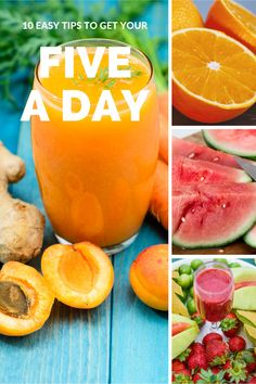 How to eat healthy | why 5 portions of fruit and veg a day is important and tips to easily get more portions into your daily diet | With free printable diet tracker sheet | My Fitness Planner
