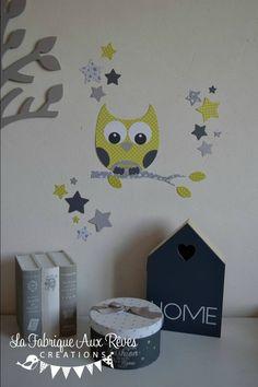 stickers décoration chambre enfant fille bébé branche cage à oiseau ...