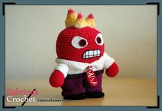 Anger - Inside Out - Free Crochet Pattern - Amigurumi