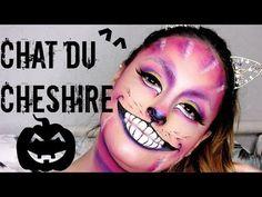 (50) Maquillage d'Halloween: le Chat dans Alice Aux Pays Des Merveilles! | CHESHIRE CAT - YouTube