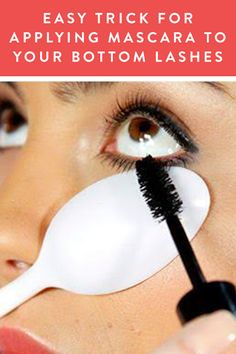 The Easy Trick for Applying Mascara to Your Bottom Lashes via @PureWow