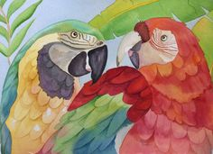 Birds of a Feather  15 x 22 by Rebecca Brown