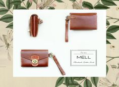 Handmade leather clutch by mell