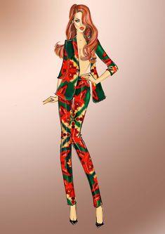 Рисуем fashion-модель | Художник-модельер Ольга Полякова