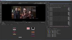 Color grading: Color grade and distress footage to make video appear like old film. Use effects filters, such as ColorCorrect and Grain. Find out more information about NUKE here: http://www.thefoundry.co.uk/products/nuke-product-family/
