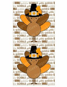 Turkey Cuties Candy Bar Wrappers- Digital Candy Labels