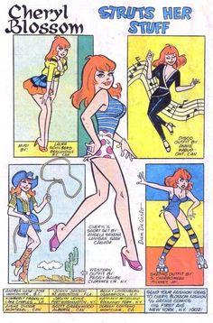 Pinup art of Cheryl Blossom by Dan Decarlo himself Archie Comic Books, Vintage Comic Books, Comic Book Characters, Vintage Comics, Cartoon Girl Drawing, Girl Cartoon, Cheryl Blossom Comics, Archie Comics Riverdale, Comic Book Girl