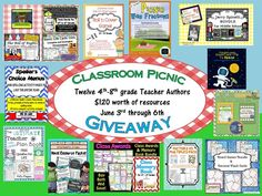 Check out this AWESOME Giveaway worth over $120 in teaching resources for grades 4-6! So many ways to win :)
