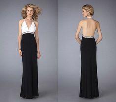 Vestidos de gala negros con blanco ~ Moda y belleza, vestidos imagenes