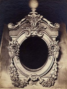 Plaster Model of an Ornamental Oeil-de-Boeuf for the New Louvre...gorgeous!!!