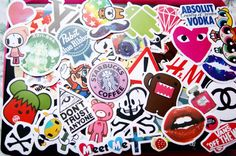 100 PCS Random Mixed Matte Laptop Skateboard Guitar Decoration Graffiti Stickers Pack Lot 100 pieces on Etsy, $34.85