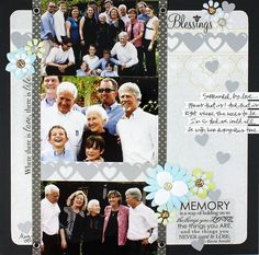 Border Maker Double Heart Chain Projects: Blessings - Divine and Reflections Scrapbooking Layout