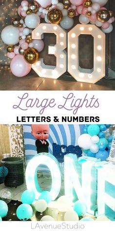 Large Wedding Light up Letters & number lights by LAvenueStudio. Wedding oversized lighting decoration for indoor and outdoor. Personalized Light up Names. Custom led letters & Big number lights for event, wedding, the birthday of baby, kids and adults, anniversaries and other party